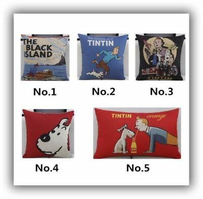 Tintin & Snowy Cushion Covers, 4 variations, 45cm x 45cm, UK Seller, BNWT