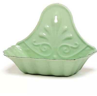 ENAMEL SOAP DISH-RETRO Green-vintage Style--New--primitive FARMHOUSE STYLE