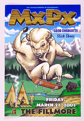 MXPX Poster w/ Good Charlotte Slick Shoes 2001 Mar 23  New Fillmore F445