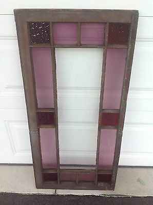 Antique Stained Glass Window Arts And Crafts, 44 In H, 22 In W