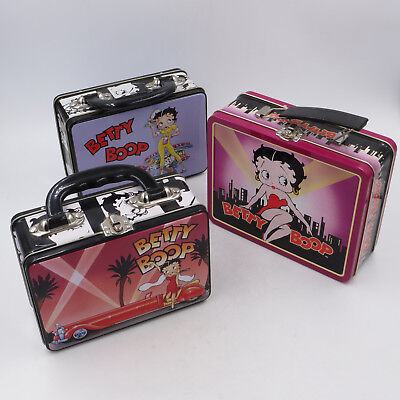 BETTY BOOP Mini Metal Lunch Pails / Lunchboxes LOT of 3 New / Unused