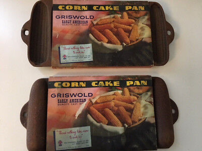 (2) Griswold Corn Cake Pans In Oversleeve Package
