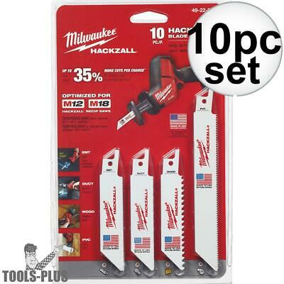 Milwaukee 49-22-0220 10pc M12 Hackzall Blade Set New