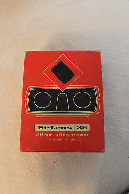 Vintage Bi-Lens 35mm Slide Viewer with Built In Light & Box