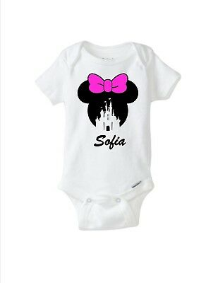 Minnie Mouse Baby Onesie or T-shirt, Custom Name