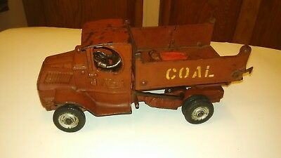 "Arcade Cast Iron MACK COAL TRUCK Very good ! Large, heavy 10"" truck origional !"