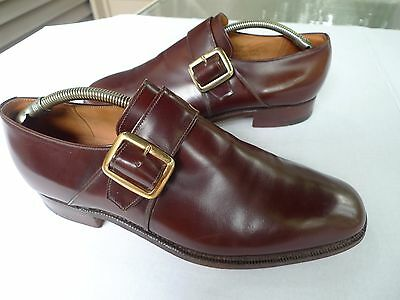 Church's  Custom Grade-Monk Strap Leather Shoes-Canon-Made @England-UK Size 9.5E