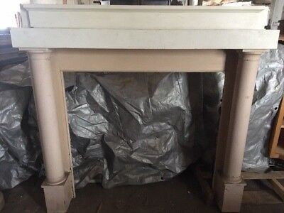 """Reclaimed Antique Fireplace Surround, Complete 60"""" x 53"""""""