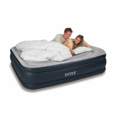The Official Intex Deluxe Mattress Bed w/ Built-In Air Pump, Raised Pillow Queen