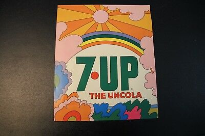 """Vintage and Original 7UP The UnCola Decal Sign 12"""" x 10"""""""