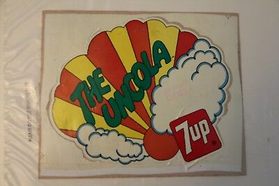 """Vintage and Original 7UP The UnCola Decal Sign 8"""" x 7 FasCal"""