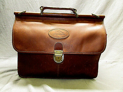 Bob Timberlake First Class Leather Collection Brown Double Sided Briefcase