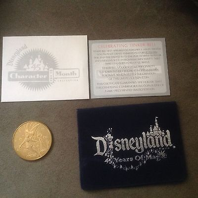 Disney TINKER BELL Character of the Month Collectible COIN Disneyland 45th LE