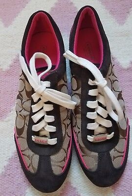 Women's Coach Shoes Size 8 1/2 Brown/Hot pink NWOT