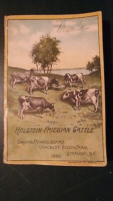 1890 Lakeside Stock Farm Holstein-Friesian Herd Directory Book -Syracuse N.y.