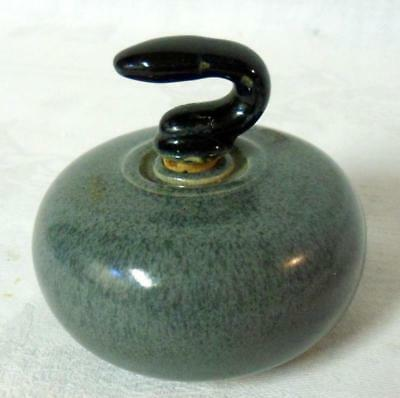 Mini Curling Stone Whisky Liquor Bottle Beneagles Peter Thomson Decanter