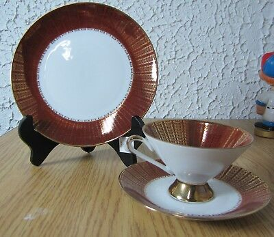 Winterling Bavaria red with gold trim cup & saucer with dessert plate