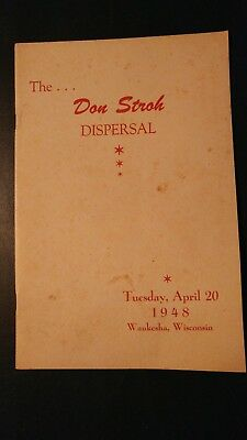 1948 Thornledge Farm Holstein Dispersal Sale Catalog Waukesha Wis. - Don Stroh