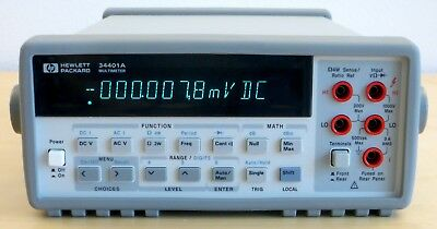 HP / Agilent 34401A Digital Multimeter, 6½ Digit. Tested & Spot-on! Very clean