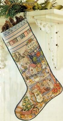 Gardening CHRISTMAS STOCKING CROSS STITCH PATTERN~Vintage Plants~Tree~Herbs++