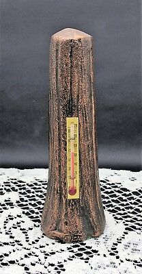 """Itasca State Park Minnesota Tree Trunk Metal Thermometer Sculpture - 5.5"""" tall"""