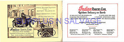 1014-1916 Indian Motorcycle Parcel Car Sales Booklet Brochure Hendee Repro
