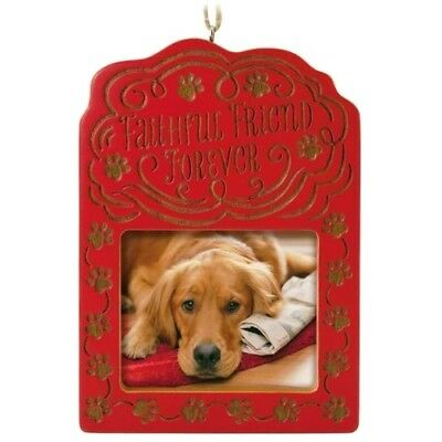 Hallmark 2017 Faithful Friend Forever Dog Photo Holder NIB Keepsake Ornament