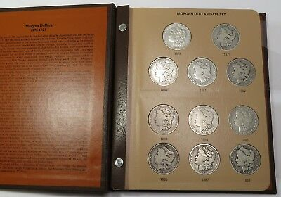1878-1921 Silver Morgan Dollar Near Complete Date Set $1 US Coin Item #16705S