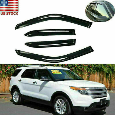 Shades Wind Window Visors Rain Vent Guard Deflectors for Ford Explorer 2011-2019