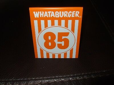 Whataburger Table Tent #85