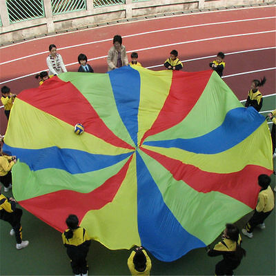 20ft / 6M Kids Play Rainbow Parachute Outdoor Game Development Exercise