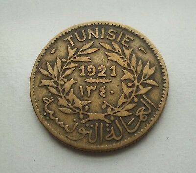 Tunisia 1921 2 Francs #km-248 World Coin  Free S/h