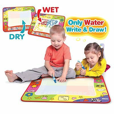 Large Kids Aqua Doodle Drawing Mat Toy Water Writing Painting Board Magic Pen AU