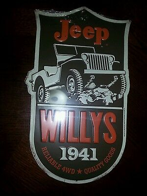 Jeep Willis sign reliable 4 wheel drive sign man cave garage then office CJ