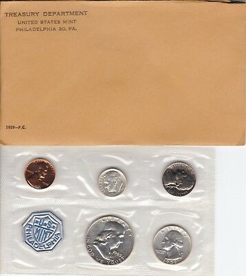 1959 US Silver Proof Coin Set with Original U.S. Mint Envelope & COA