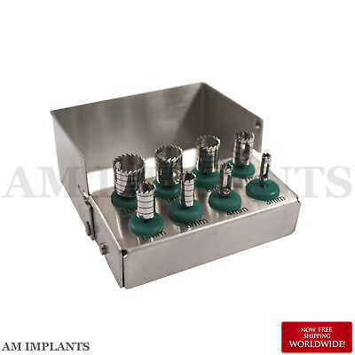 Dental TREPHINES Surgical Kit Bone Tank Sections Removal Implantology NEW CE