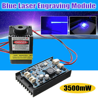 3500mW 450nm Blu ray Laser Engraving Machine Power Supply With TTL Modulation