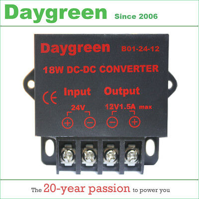 24V to 12V 1.5A 18W DC DC Converter Regulator Car Step Down Reducer