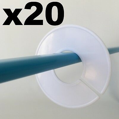 20 Round Blank Clothes Size Dividers Hangers for Retail Clothing Racks Wardrobes
