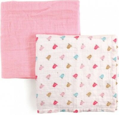 Luvable Friends Baby Boy And Girl Muslin Swaddle Blanket, 2 Pack - Turtles