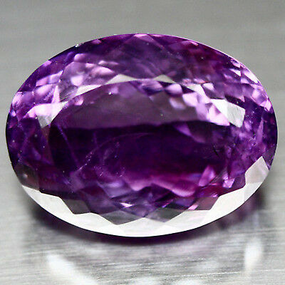 23.79 Ct Natural! Purple Clr Change To Pink Brazilian Amethyst Oval