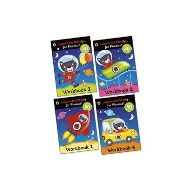 Ladybird: I'm Ready... for Phonics! Sticker Workbooks Pack x 4 Books - SEE DESC