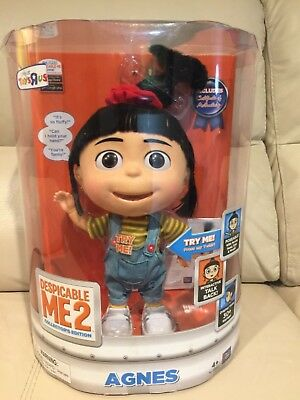 "DESPICABLE ME 2 Talking Figure AGNES 11"" Collector Edition HARD TO FIND"