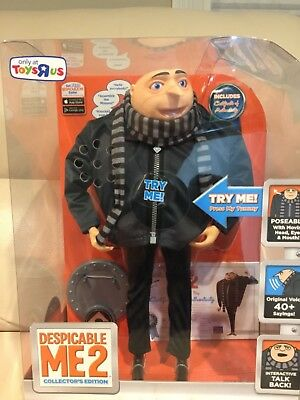 DESPICABLE ME 2 Talking Figure GRU Collector Edition HARD TO FIND