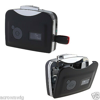 Portable Cassette Tape to Audio MP3 Format Converter to USB Flash Thumb Drive