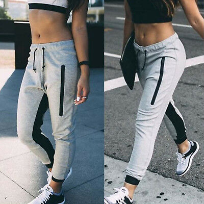 Womens Joggers Pants Gym Trackies Track Trousers Casual Dance Sweatpants Slacks