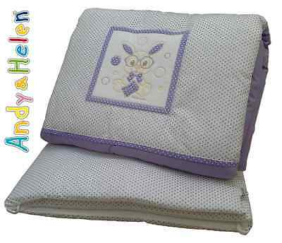 Winter quilt Crib Cot Piumotto Embroidered + Bumpers ANDY & HELEN R64
