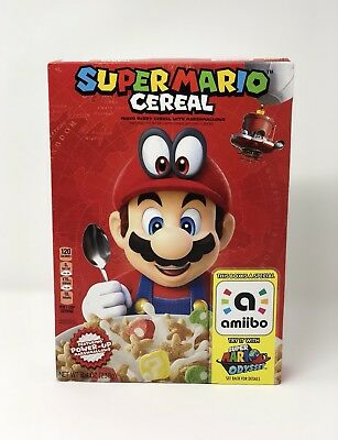 Super Mario Cereal Kellogg's Limited Edition Nintendo Switch Amiibo SOLDOUT