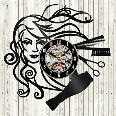 Barber Hair Beauty Salon Vinyl Wall Clock Hairdresser Barber Shop Decor Clock Ar