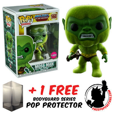 Funko Pop Masters Of The Universe Moss Man Flocked Exclusive Free Pop Protector